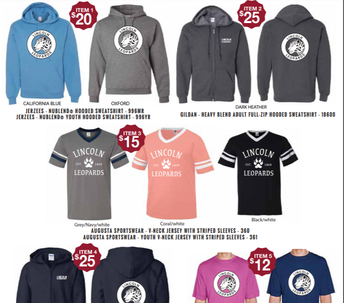 Lincoln Spirit Wear Store is open-Store Closes this Sunday!