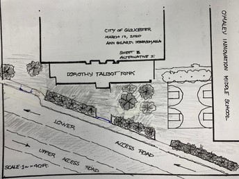 Plans for the O'Maley front drive