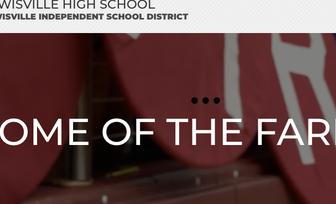 Lewisville HS School Website