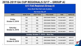 U17 Game Schedule