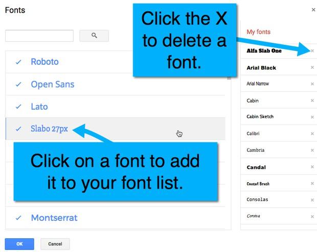 Google Docs: Fonts | Smore Newsletters