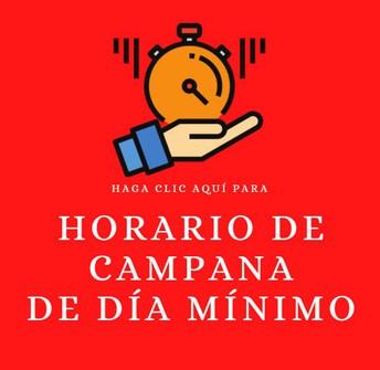 Horario de Campana de Día Mínimo de Estudiantes