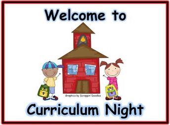 Curriculum Nights are next week!