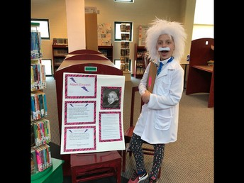 Leah as Albert Einstein