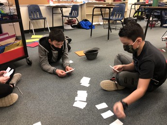 Math 6 FHG: Go Fish to practice standard and word forms