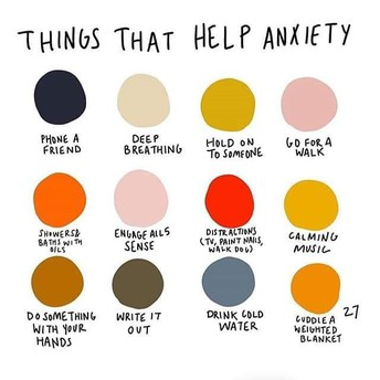 Things That Help Anxiety