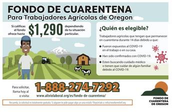 Fondo de cuarentena para trabajadores agrícolas de Oregón