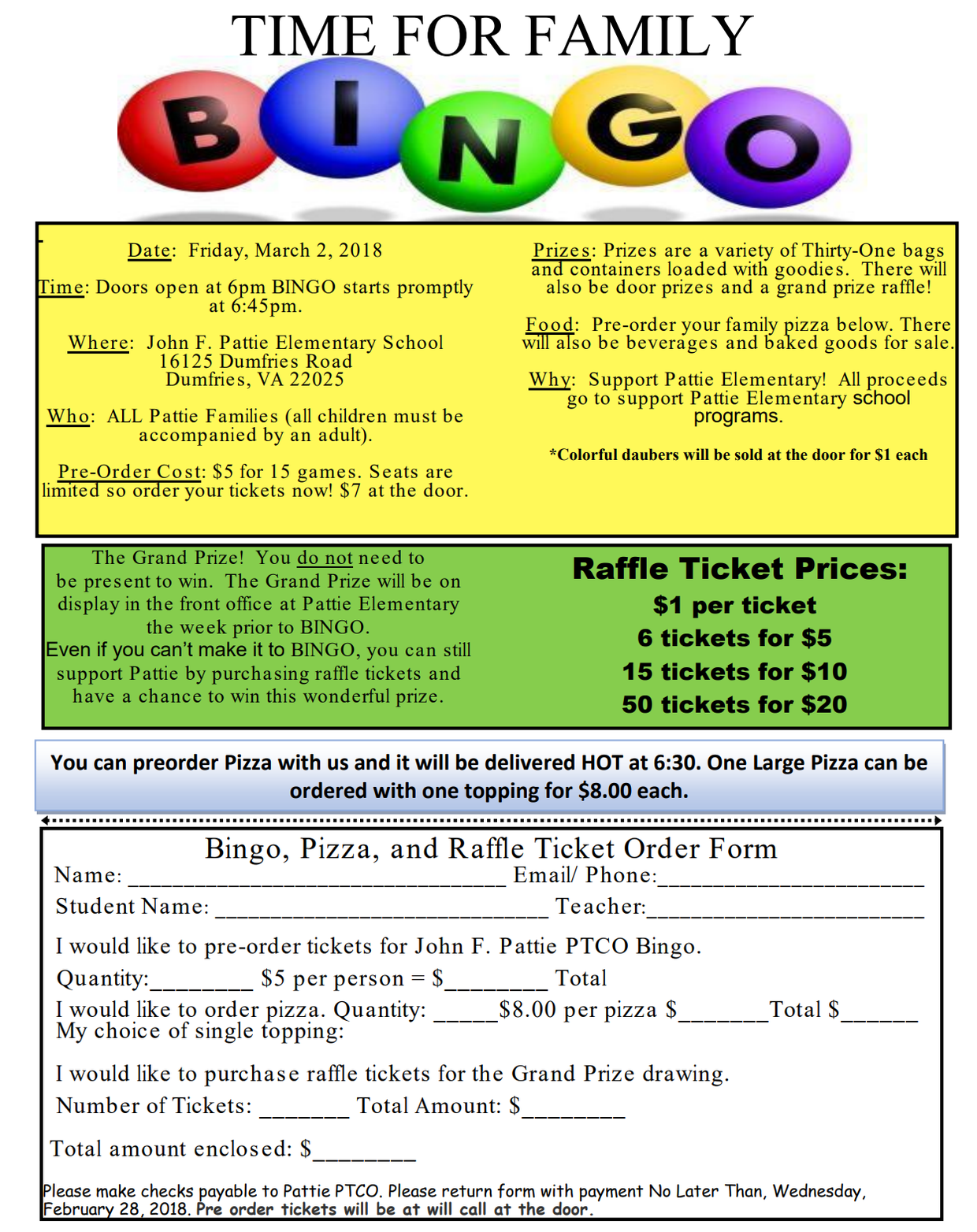 all the information you need can be found in the flyer below a variety of prizes are offered as well as door prizes and a grand prize raffle
