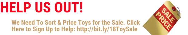 Click here to help at the Toy Sale