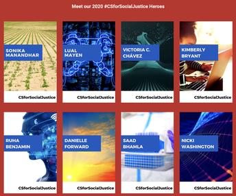 Meet CSTA's 2020 #CSforSocialJustice Heroes (3 - 12)