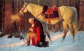 Painting of the Prayer at Valley Forge