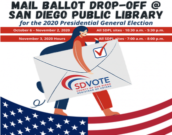 Lemon Grove Branch Library - Ballot Drop Off Location