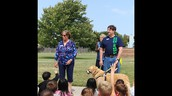2nd Graders Learning about a service dog