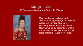 Malayah Allen