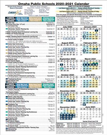 UPDATED 2020-2021 School Calendar