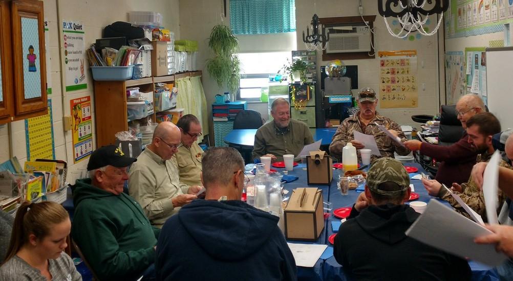 Munson Elementary hosted 16 local veterans on November 8.