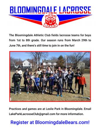 LaCrosse is Coming to Bloomingdale