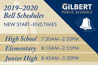 New Bell Schedule:
