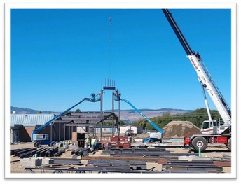 Raising Steel at Mt. Stuart