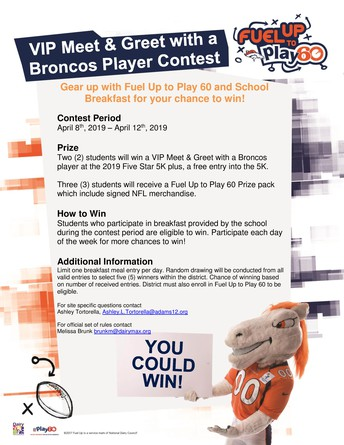 Fuel Up to Play 60 Contest