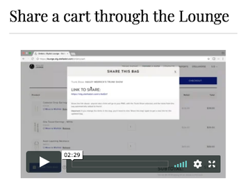 If you don't know about SHARE-A-BAG, log into the lounge and watch this quick tutorial--GAME CHANGER for your virtual business!