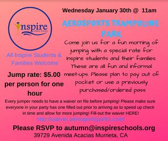 Aerosports Trampoline Park Event!