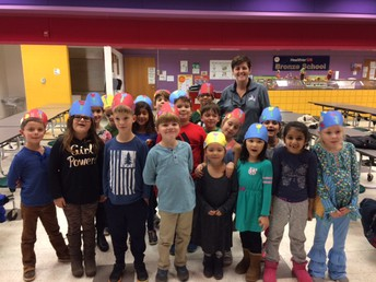 Mrs. Parrish's 1st Grade Celebrates for Raising Over $1,000