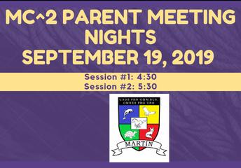 MC^2 Parent Night Meeting #1