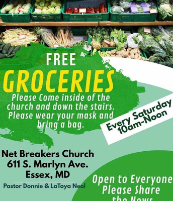 FREE GROCERIES EVERY SATURDAY 10am-Noon