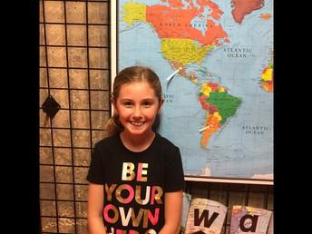 Cora Bartels stamped her passport to North America!