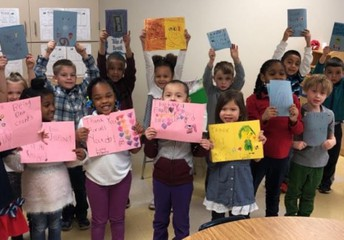 Kindness Counts - Kinders in K2 delivered Kind Cards to Staff