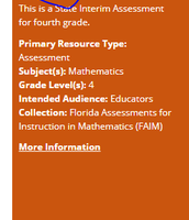 4th Grade - 1 out of 4 Interim Assessments