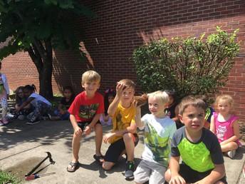Kindergarten is reading Chicka Chicka Boom Boom