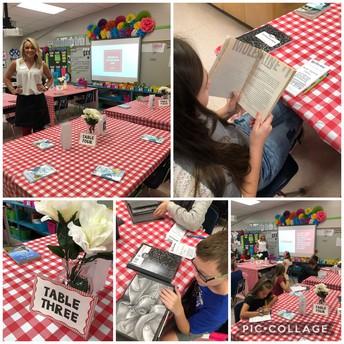5th Grade creates a Book Cafe!