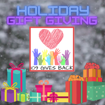 109 Gives Back: Holiday Gift Giving