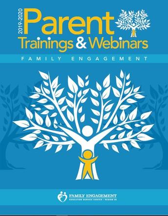 September Parent Trainings & Webinars