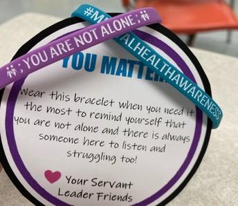 2. 'You Are Not Alone' Bracelets