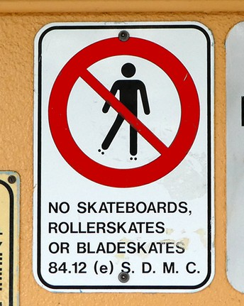 No Skateboarding or Bike Riding on Campus