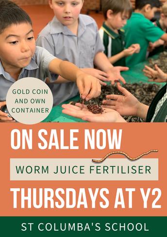 Year 2 - Worm juice fertiliser on sale
