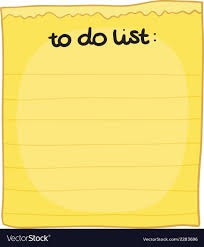 "Student ""To Do"" List"