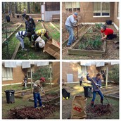 1st Grade Garden Clean-Up