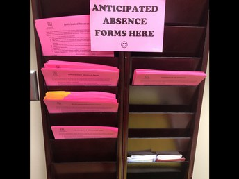 Blank Anticipated Absence Forms