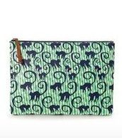All in Pouch - Spearmint/Navy Monkeys