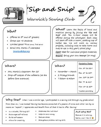 Introducing a New Warwick Club