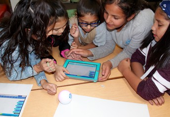 Students Tackle Robot Coding Challenge