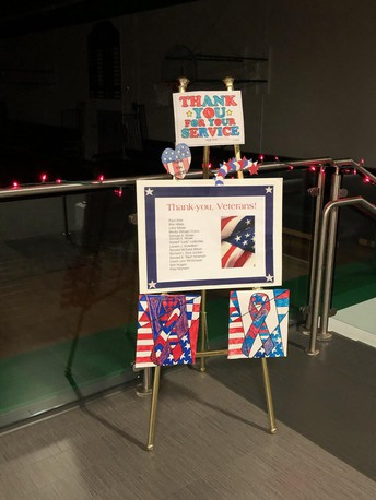 CRES Makes Patriotic Decorations
