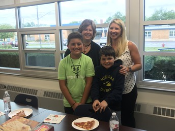 Pizza with the Principal and Beloved Mrs. Hunter
