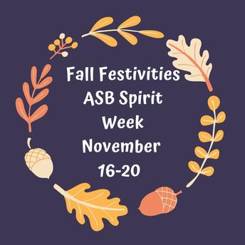 ASB Spirit Week: Fall Festivities!