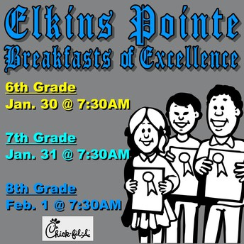 Breakfasts of Excellence - 1/30, 1/31, 2/1