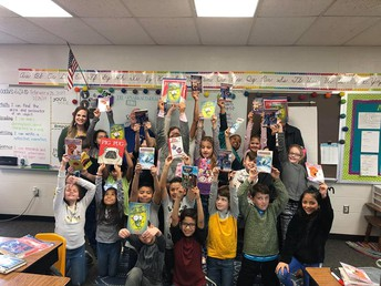 Springdale Rotary Club Supported our 3rd Grade Readers with Book Donations